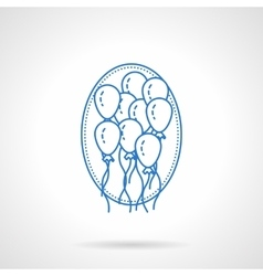 Balloons blue flat line icon vector image vector image