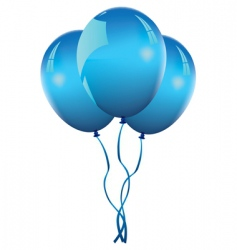 blue balloons vector image vector image
