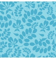 Blue leaves seamless pattern background vector image vector image