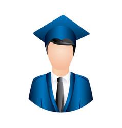 color man graduation icon vector image vector image