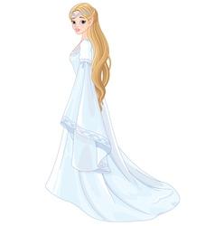 Fantasy Style Elf Princess vector image