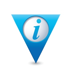 information icon map pointer blue vector image vector image