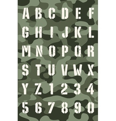 Original stencil font vector image