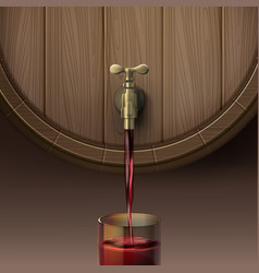 pouring red wine vector image vector image