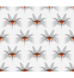 3D Seamless Paper Flower Pattern vector image