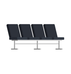 Airport chairs place icon vector
