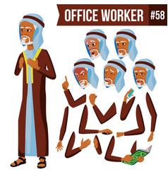 arab office worker arab muslim face vector image