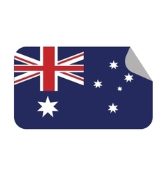 Australia flag patrotic country sticker vector