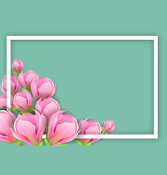 background with magnolia for horizontal design vector image