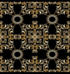 baroque floral seamless pattern abstract vector image