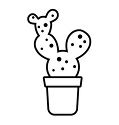 big cactus icon outline line style vector image