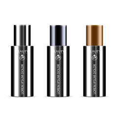black set of cosmetic products on a white vector image