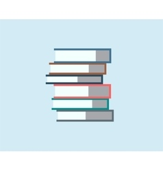Books stack icon isolated School objects vector image