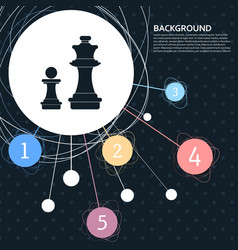 chess icon with the background to the point and vector image