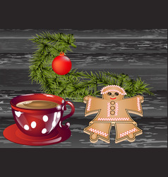 Christmas breakfast vector