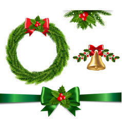 christmas set isolated vector image