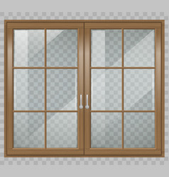 Classic wooden window vector
