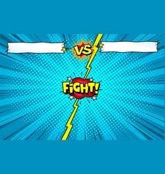 Comic book versus background superhero vector