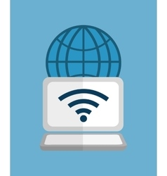 Computer wifi technology vector