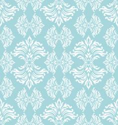 cyan floral curl vector image vector image