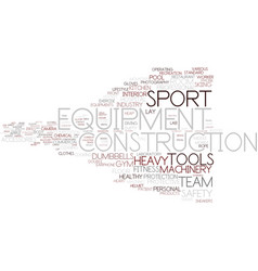 Equipment word cloud concept vector