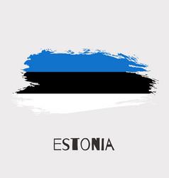estonia watercolor national country flag icon vector image