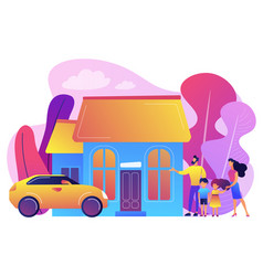 family house concept vector image