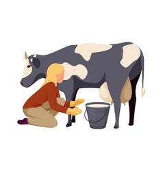 farm flat icon vector image
