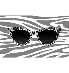 Fashion zebra glasses accessory art collection vector