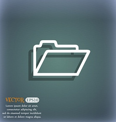 Folder icon symbol on the blue-green abstract vector image