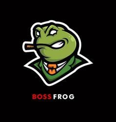 frog mascot logo design with modern vector image