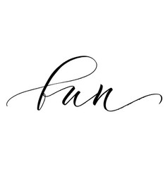 fun lettering vector image
