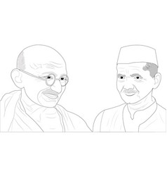 Gandhi shastri vector