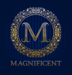 Golden logo template for magnificent boutique vector