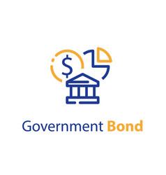 Government bond concept financial supply vector