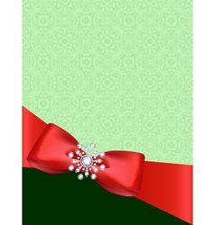 Greeting card with bow vector