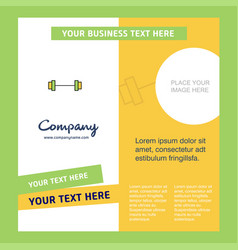 gym rod company brochure template busienss vector image