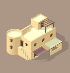 Isometric arab house vector