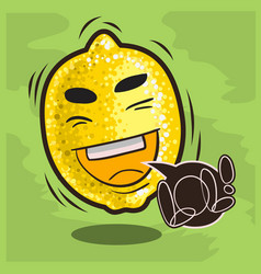 Lol lots of laughs with laughing lemon funny vector