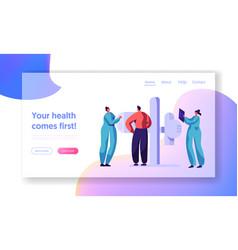 Man character check xray healthcare concept vector