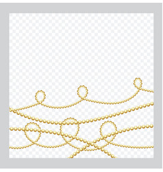 Mardi gras golden or bronze color round chain vector