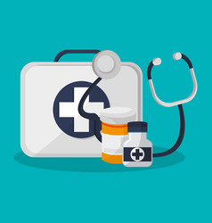 medicine related icons vector image