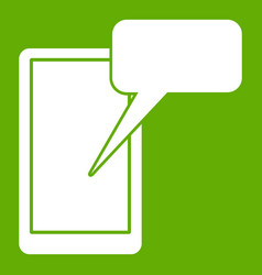 mobile chatting icon green vector image