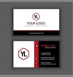 modern creative and clean business card template vector image