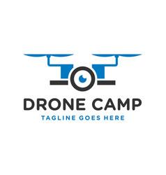 Modern technology drone camera logo vector