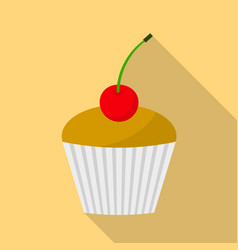 muffin icon flat style vector image