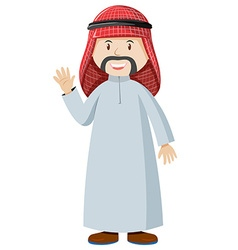Muslim man in costume vector