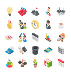 Office and organization icons vector