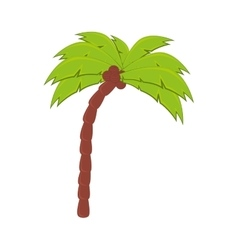Palm tree coconut beach vector