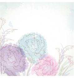 Pastel flowers vector
